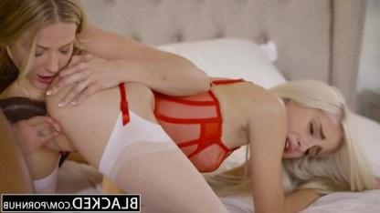 Шикарные подружки сговорились и решили попробовать межрасовый секс втроем
