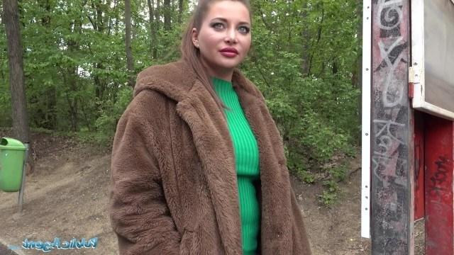 Знакомство с пикапером на улице Анна Полина продолжила во время секса в подъезде